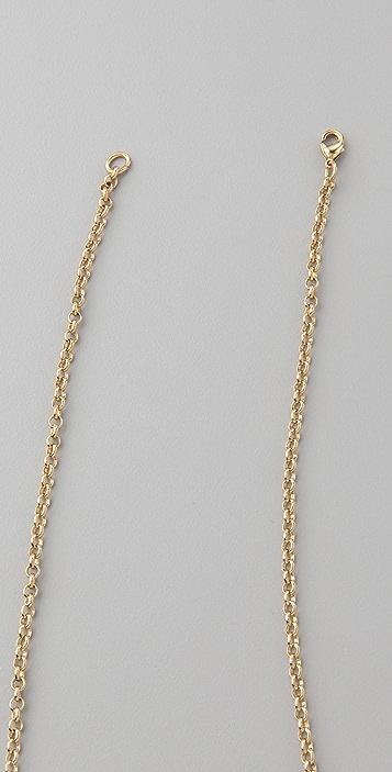 Jacquie Aiche Leather Tassel Necklace