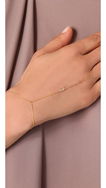Jacquie Aiche JA Cubic Zirconia Hand Chain