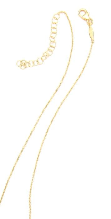 Jacquie Aiche JA Bezel Rosary Necklace