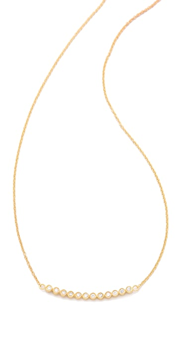 Jacquie Aiche JA 12 CZ Bezel Curved Necklace