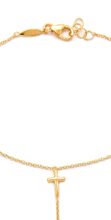 Jacquie Aiche JA Mini Cross Chain Finger Bracelet