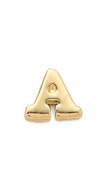 Jacquie Aiche JA Alphabet Single Earring