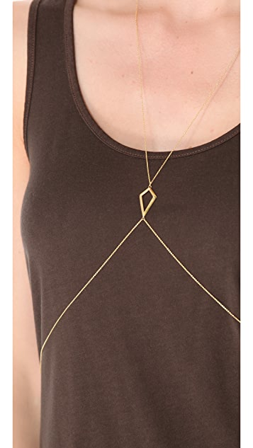 Jacquie Aiche CZ Large Kite Body Chain