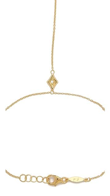 Jacquie Aiche JA Diamond Kite Hand Chain