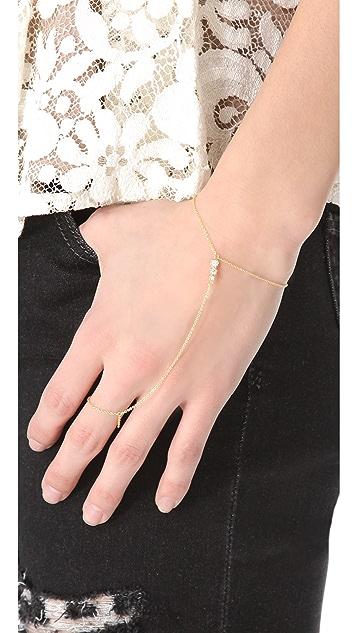 Jacquie Aiche JA Graduated Bezel Hand Chain