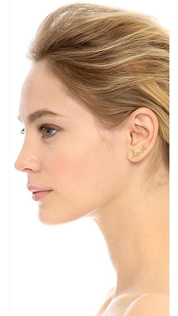 Jacquie Aiche JA Love Ear Crawler with Diamond