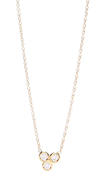 Jacquie Aiche Cluster Trinity Necklace
