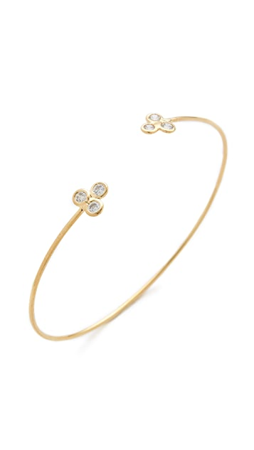 Jacquie Aiche JA Trinity Cluster Cuff Bracelet