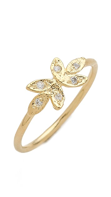 Jacquie Aiche JA Mirrored Leaf Waif Ring