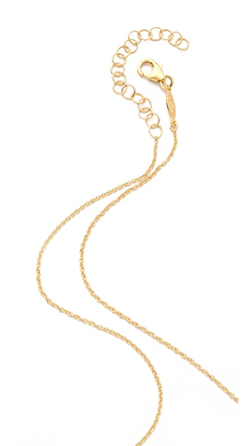 Jacquie Aiche JA Pave Mini Bar Necklace