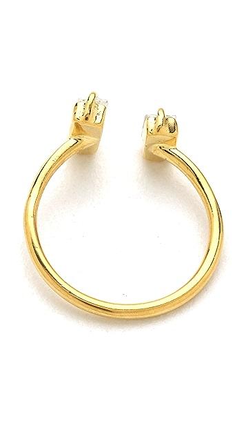 Jacquie Aiche JA Double Baguette Open Ring