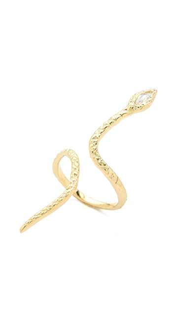Jacquie Aiche JA Marquise Snake Ring