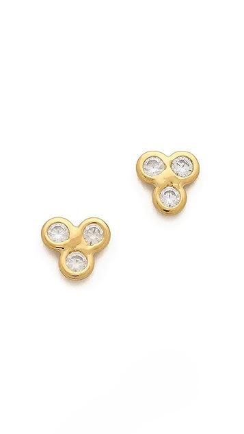 Jacquie Aiche JA 3 CZ Cluster Earrings