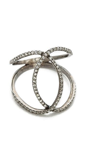 Jacquie Aiche Pave Overlap Circles Eternity Ring