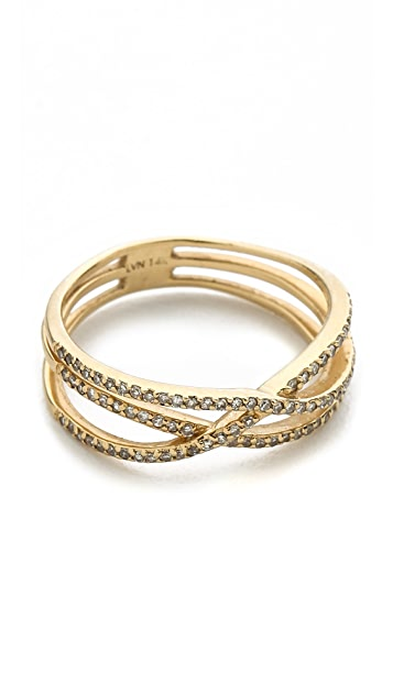 Jacquie Aiche Pave Triple Row Eternity Ring