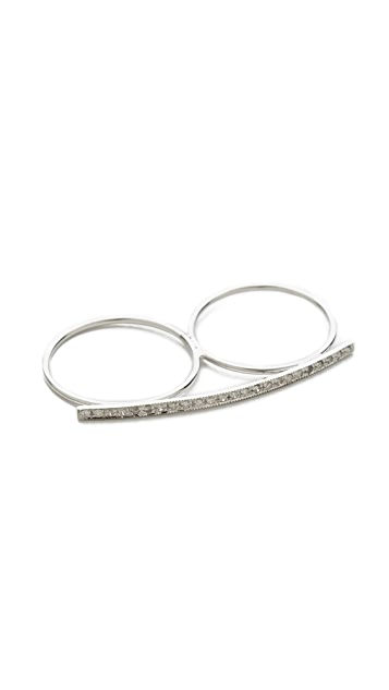 Jacquie Aiche Diamond Bar Knuckle Ring