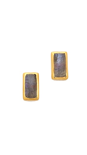 Jacquie Aiche JA Rectangle Labradorite Stud Earrings