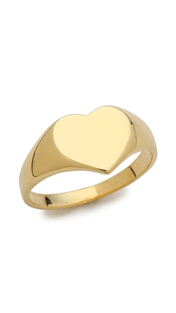 Jacquie Aiche JA Heart Signet Ring Topper