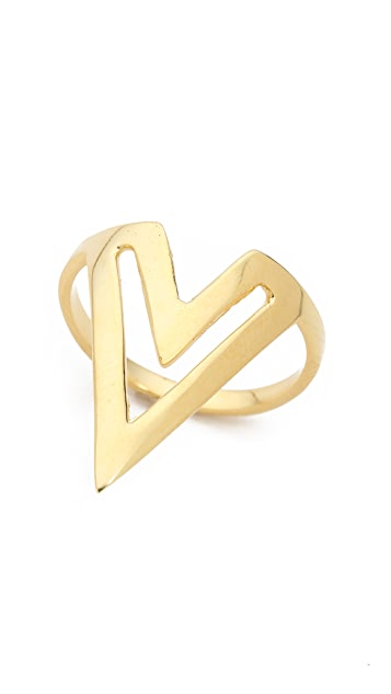 Jacquie Aiche JA Double Deco V Ring