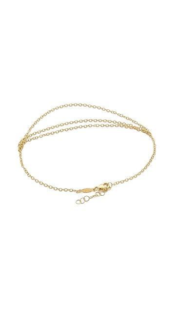 Jacquie Aiche JA 3 Chain Anklet