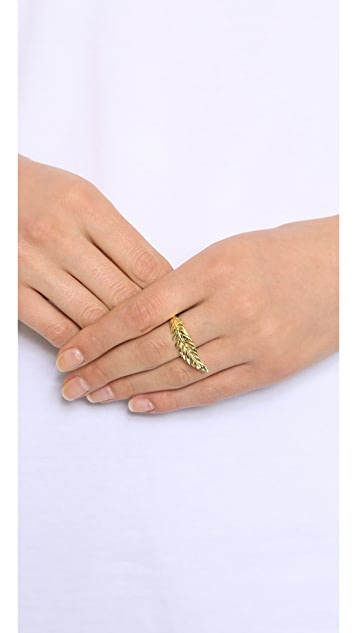 Jacquie Aiche JA Large Feather Ring