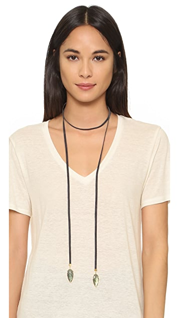 Jacquie Aiche JA Double Arrowhead Tie Necklace