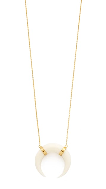 bone v htm double jacquie aiche vp ja necklace shopbop horn