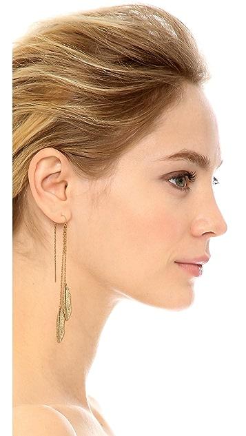 Jacquie Aiche JA Feather Ear Thread Earring