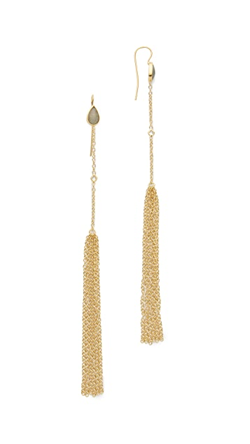 Jacquie Aiche JA Labradorite Chain Tassel Earrings