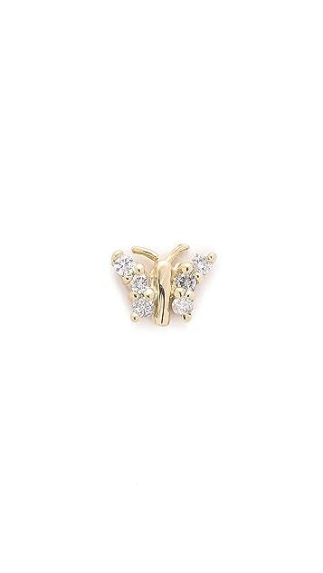 Jacquie Aiche Butterfly Diamond Stud Earring