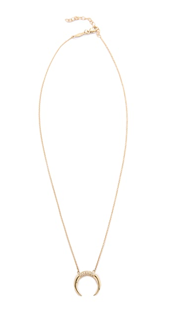 Jacquie Aiche Crescent Necklace