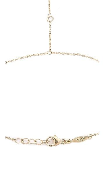 Jacquie Aiche 14k Gold 3 Diamond Finger Bracelet