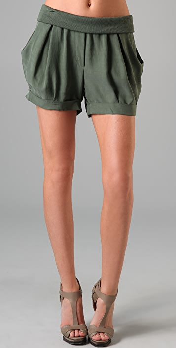 James Jeans Cuffed Petal Shorts