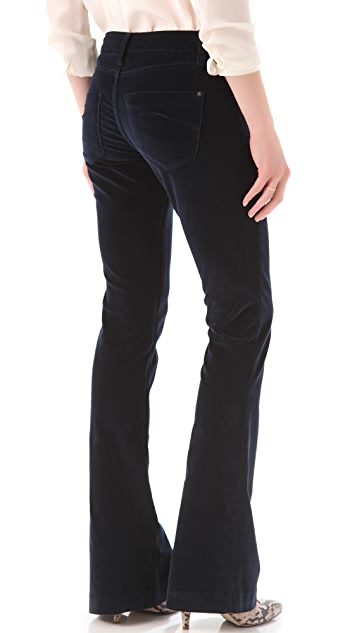 James Jeans Velveteen Trumpet Flare Pants