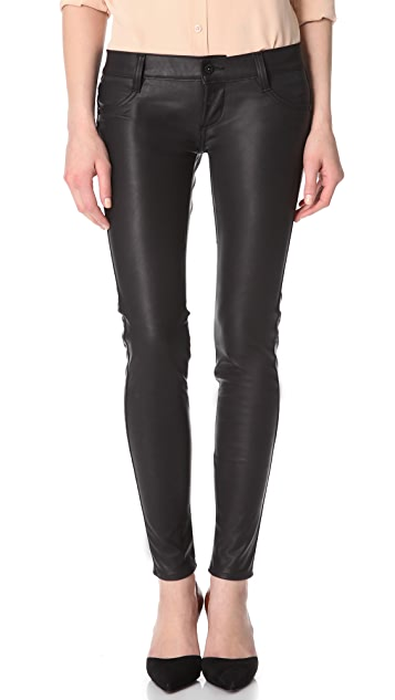 James Jeans Faux Leather Skinny Pants