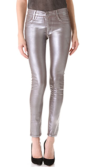 James Jeans Twiggy Metallic Coated Skinny Jeans