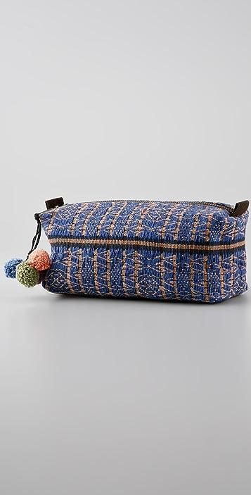 JADEtribe Nina Pom Pom Cosmetic Bag
