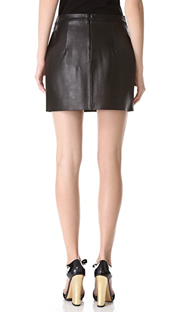 J.W. Anderson Leather Miniskirt