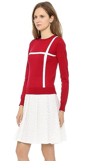 J.W. Anderson Cross Crew Neck Sweater