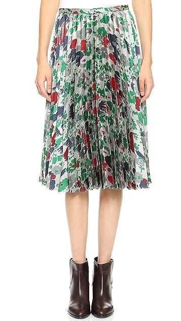 J.W. Anderson Jacquard Twill Sunray Skirt