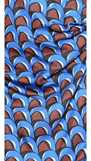 J.W. Anderson Wave Print Knot Dress