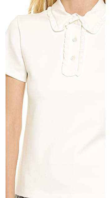 J.W. Anderson Polo Shirt with French Ruffle Detail