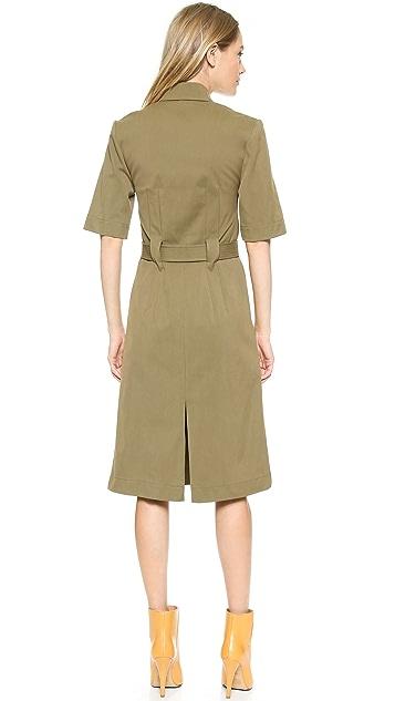 J.W. Anderson Zip Front Twill Dress