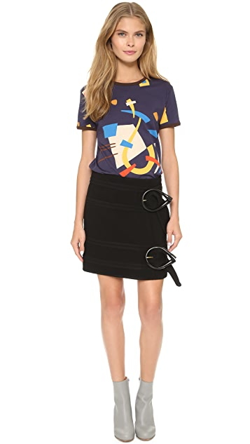 J.W. Anderson Abstract Print T-Shirt