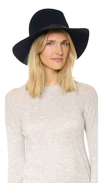Janessa Leone Agate Leather Band Hat