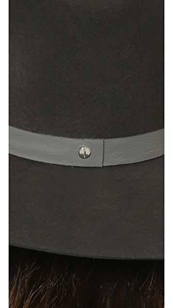 Janessa Leone Malachite Leather Band Hat