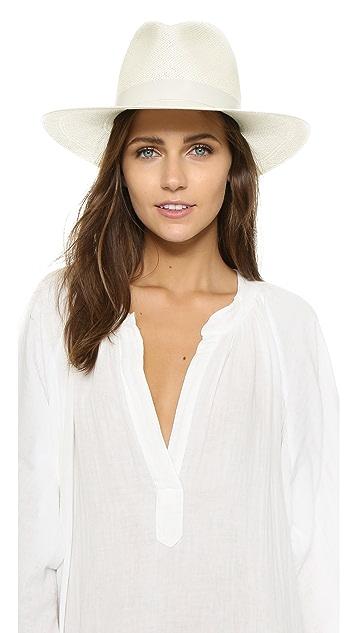 Janessa Leone Aisley Short Brimmed Panama Hat