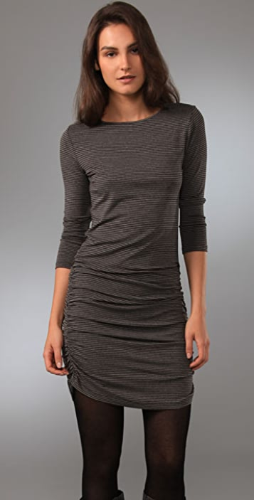 Jarbo Striped Ruched Dress
