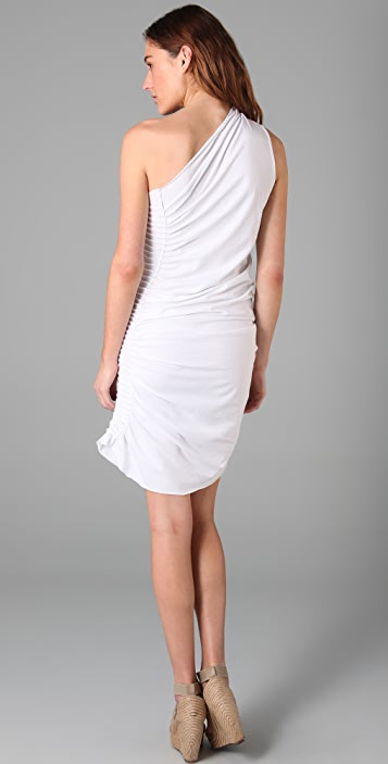 Jarbo One Shoulder Pintuck Dress
