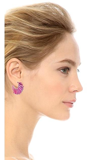 Jarin K Fishtail Baguette Crescent Earrings